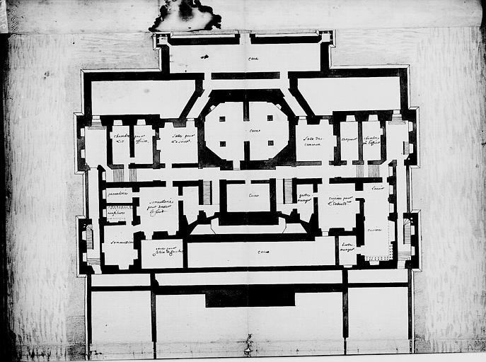 Vaux Le Vicomte Plan Des Caves Architectural Floor Plans Mansion Plans Architecture Plan