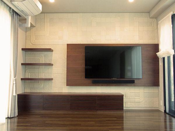 造作家具現場 壁掛tvボード タイル施工編 造作 壁掛け Tvボード