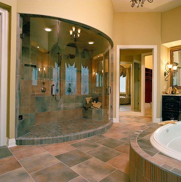 Ryan 39 s all glass eclectic showers cincinnati housetrends magazine dream home Interior doors cincinnati