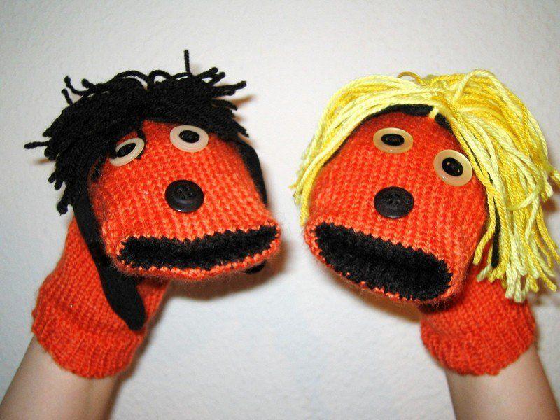 Fingerpuppen & Handpuppen - Fu und Fara Handpuppen - ein Designerstück von…