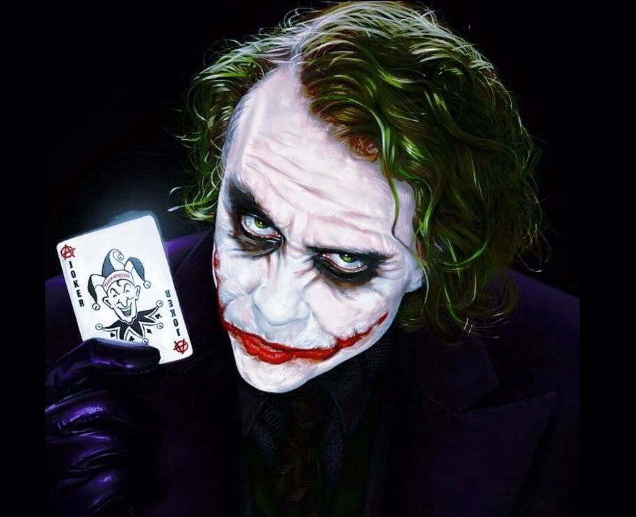 Incredible Artistic Rendering Of Heath Ledger As The Joker