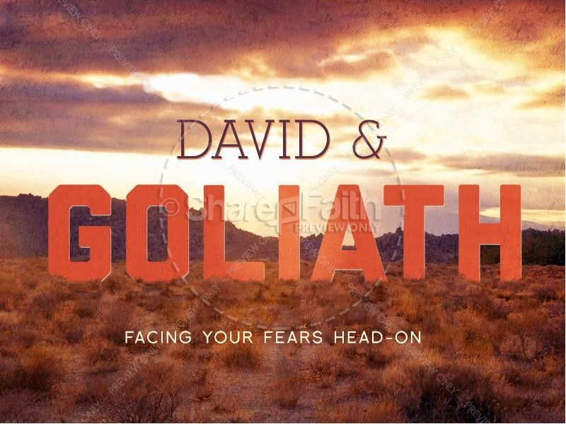 david and goliath bible story powerpoint template a sermon, Modern powerpoint