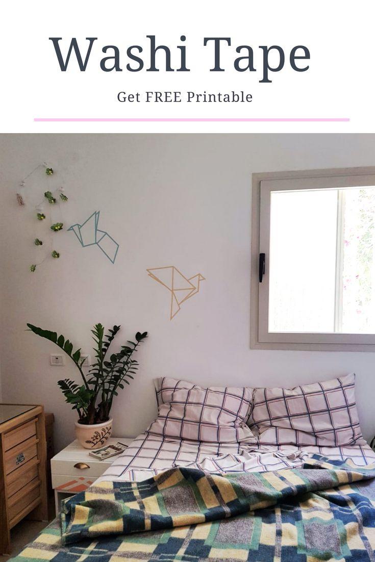 Diy washi tape origami birds tww projects pinterest diy