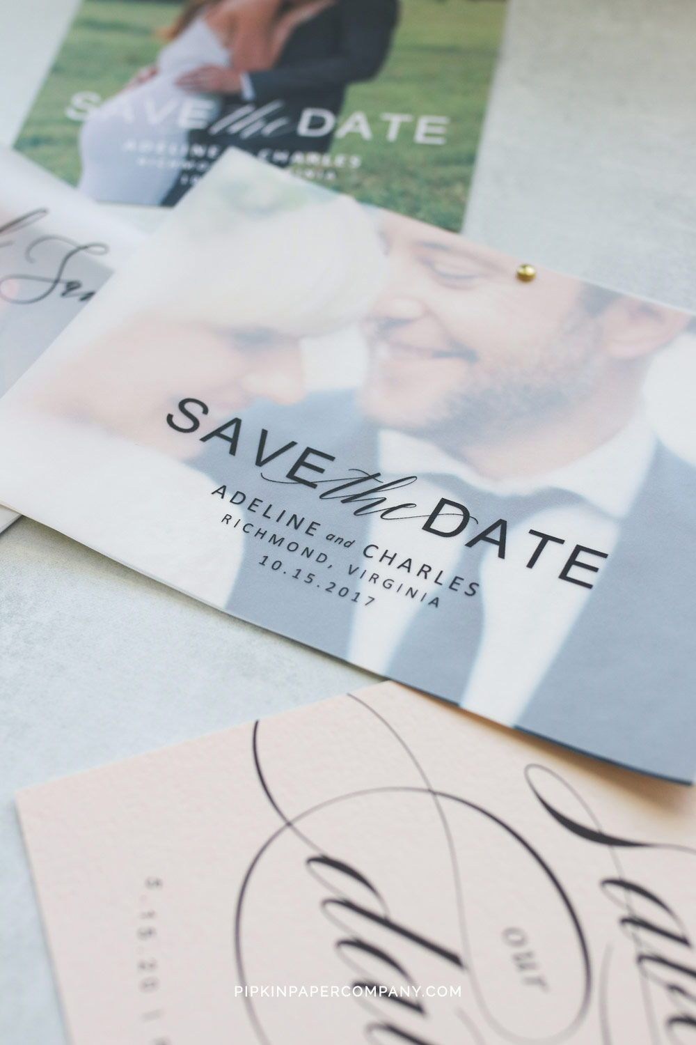 Free Vellum Save The Dates With Images Wedding Invitations Diy