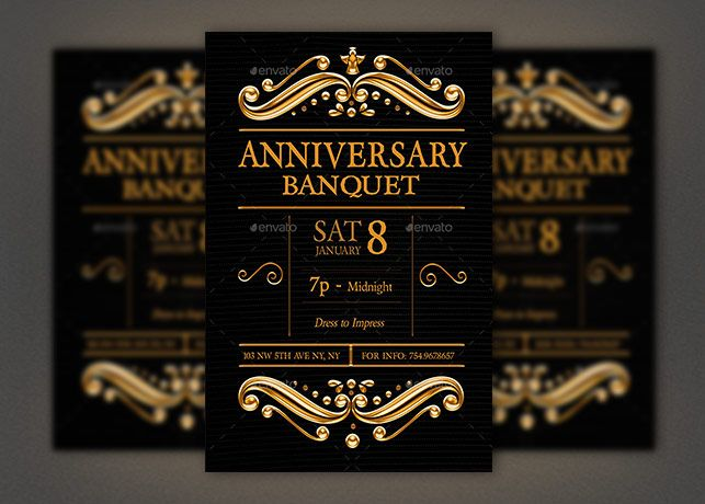 anniversary banquet flyer photoshop template bannerrrr pinterest