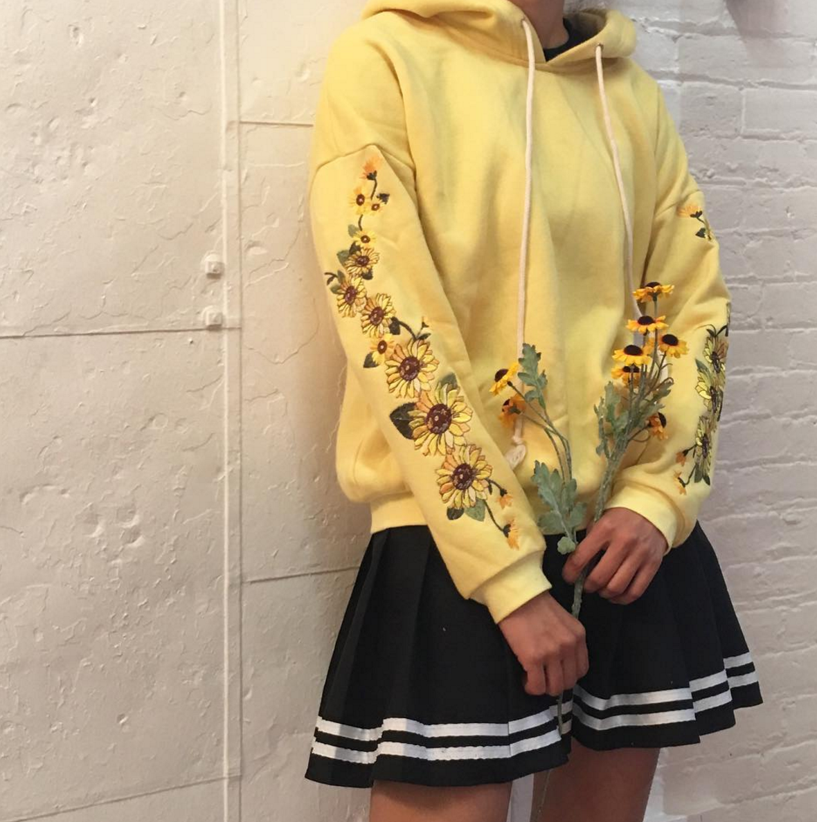 cf7f07a4572 NEW SAMPLE SALE - FLOWER CHILD SUNFLOWER HOODIE jumper