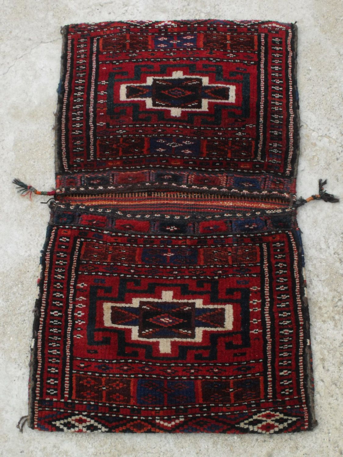 Antique Afghan Rug Saddle Bag Persian Carpet Tribal Hand