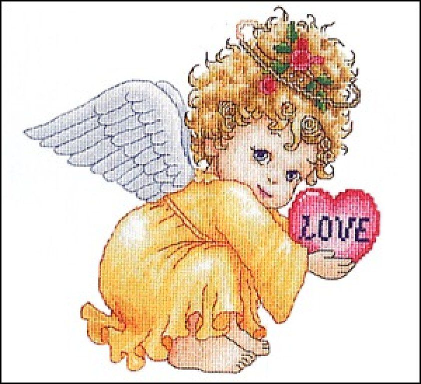 14 count aida needlepoint cross stitch baby kit with colorful chart KP085