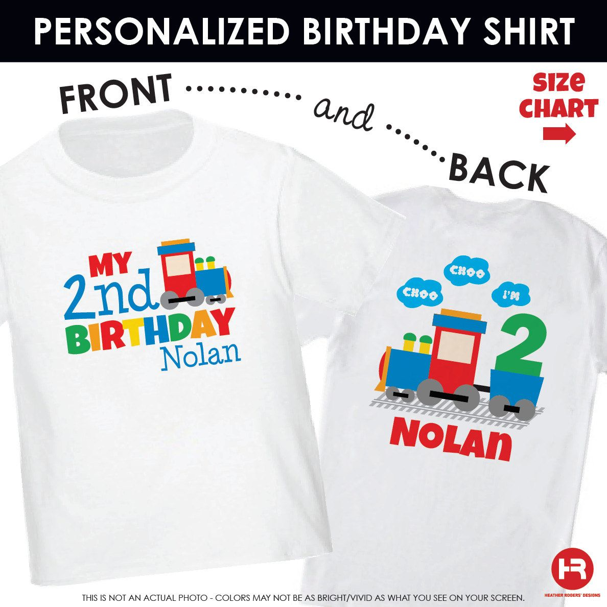 Train Birthday Shirt or Bodysuit Front & by HeatherRogersDesigns, $21.50