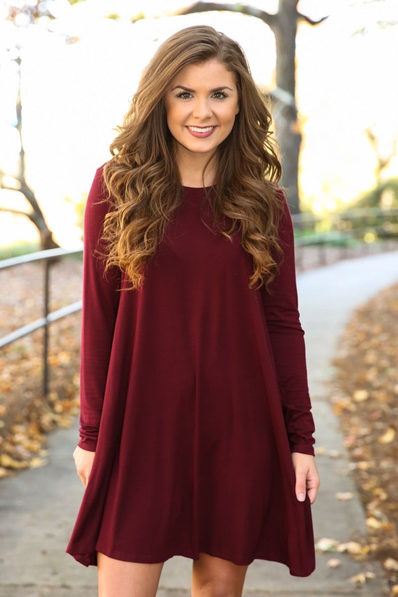 Christmas dress boutiques - Fairy Godmother Be New Today Red Dress Boutiques Christmas Dresses Burgundy Dress Classy Fashion Dress Outfits Simplicity