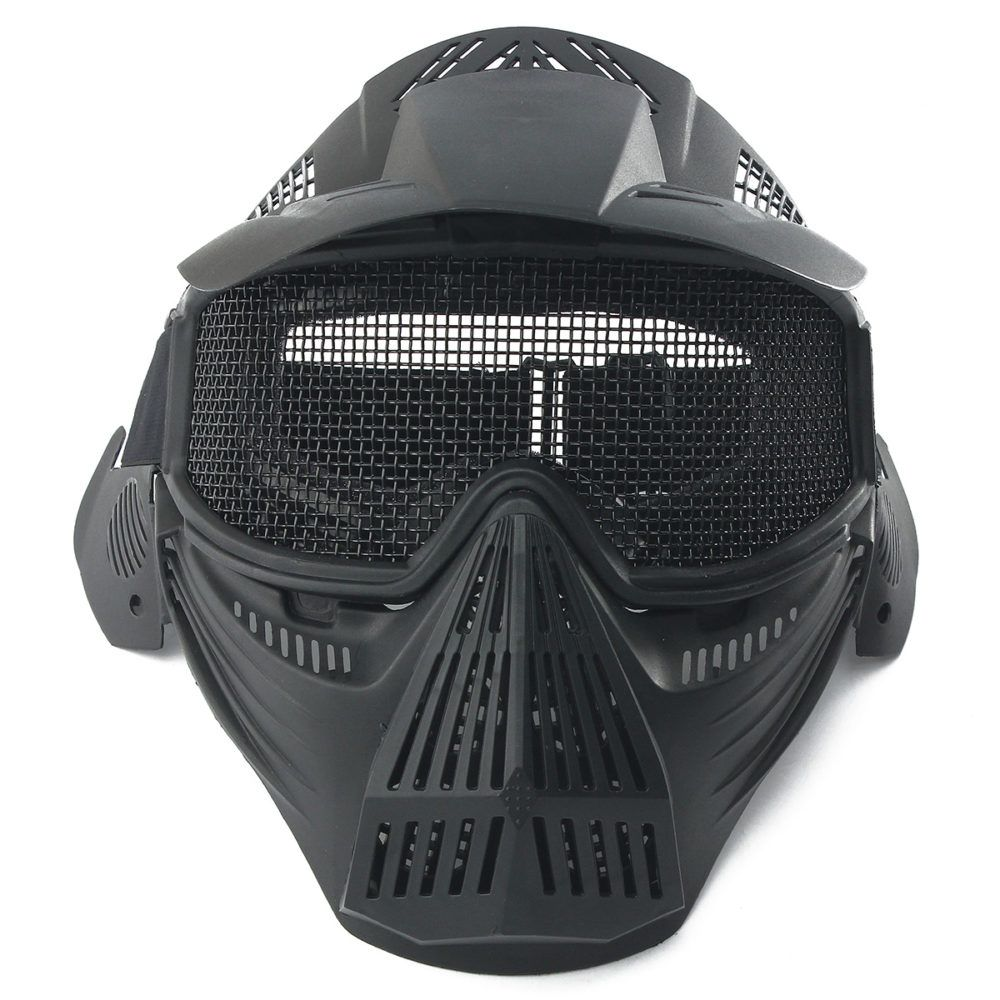 Tactical Airsoft Pro Full Face Mask with Safety Metal