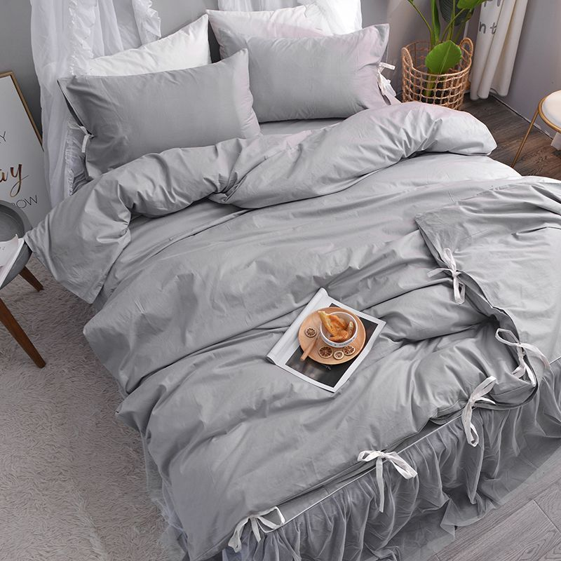 Grey Cotton Bed Sheets Lace Bed Sheet Bed Covers And Bedspread Ruffle Bed Set Chinese Duvet Covers Set Bedding Co Lace Bedding Duvet Cover Sets Grey Bed Covers
