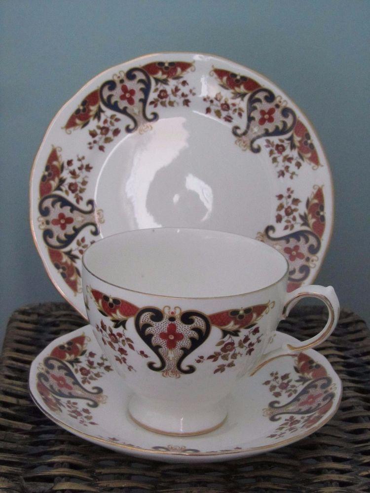 Vintage Colclough  Royale  Cup Saucer and Tea Plate Trio English Bone China