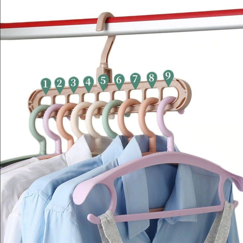 Clothes Hanger 2PCS Multi-port Support hangers for