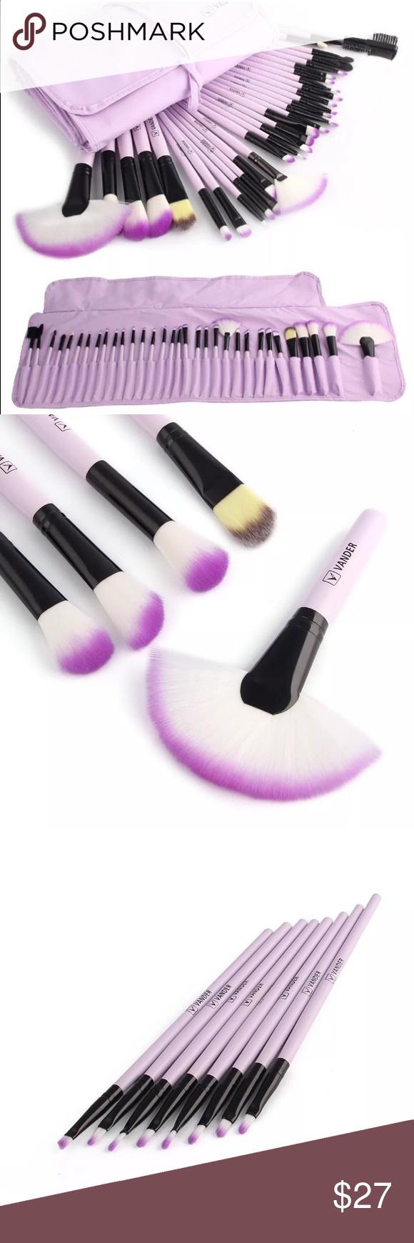 Vander Profesional 32pcs Makeup Brush NWT Boutique Lip