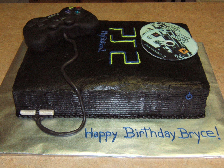 Groovy Playstation Cake Playstation Cake Best Chocolate Cake Boston Cream Funny Birthday Cards Online Alyptdamsfinfo