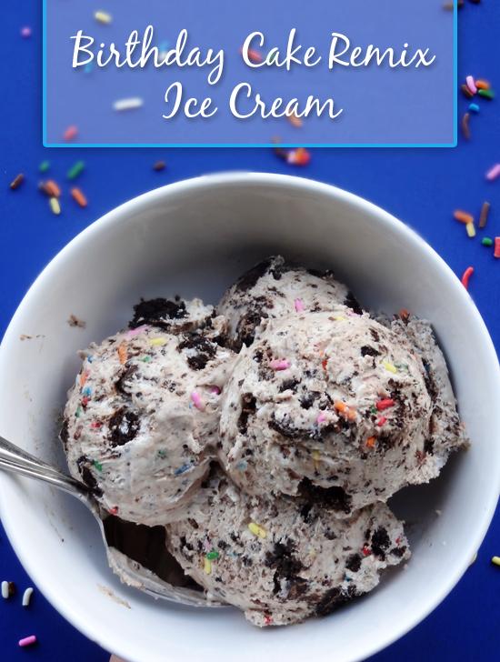 Copycat Birthday Cake Remix Ice Cream No Machine Required