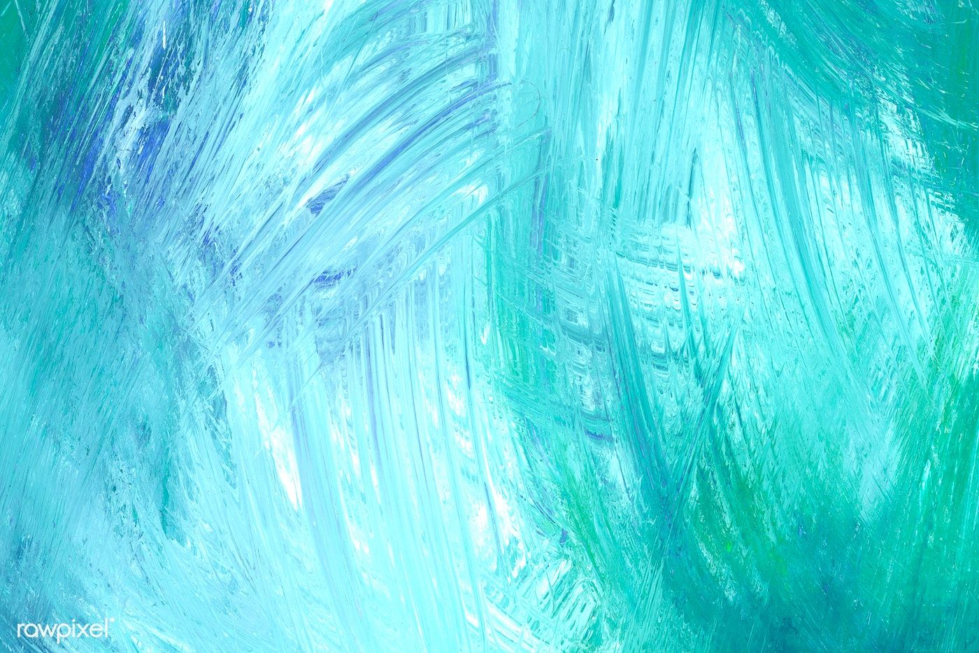 Teal brush stroke textured background free image by