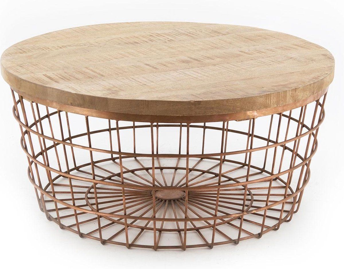 Coffeetable New Glory 70cm - copper