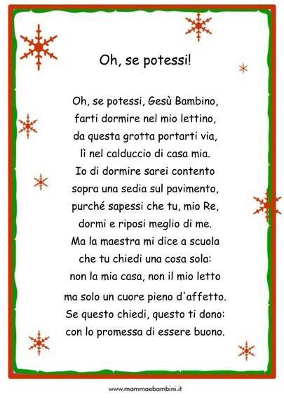 Poesie Brevi Di Natale D Autore.Pin Su Poesie E Filastrokke Scuola