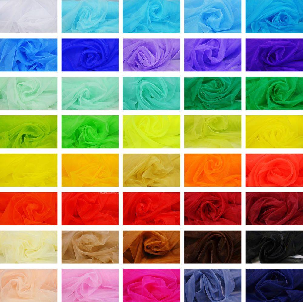 Stoffe Färben details zu organza stoff 40 farben deko kleidung schal karneval