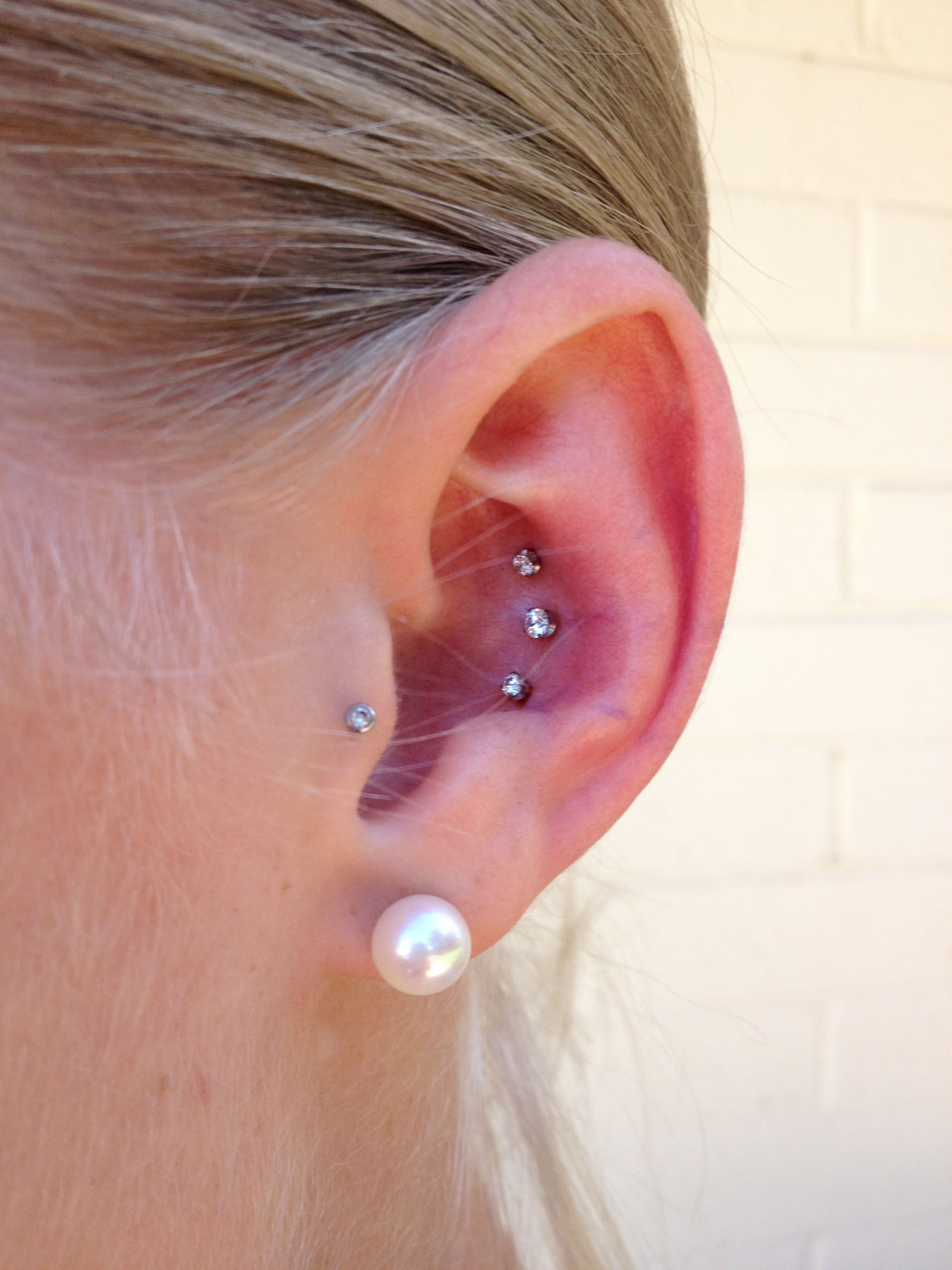 Triple conch piercing I donut know if I could sit through  more