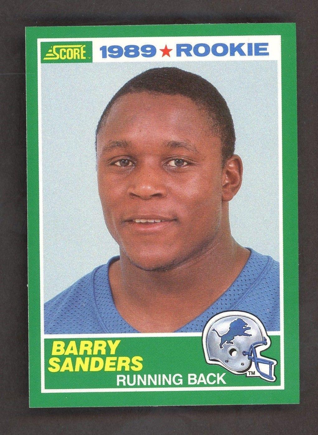 1989 score football 257 barry sanders detroit lions rc
