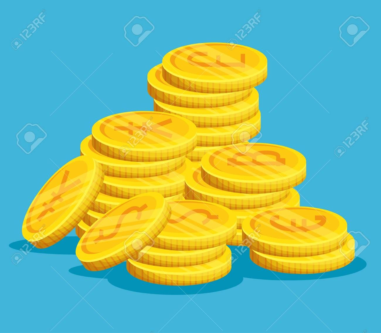 digital bitcoin electronic exchange currency vector illustration ,