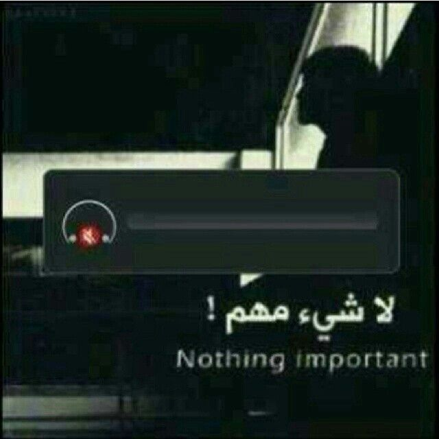 لا شيء مهم ..