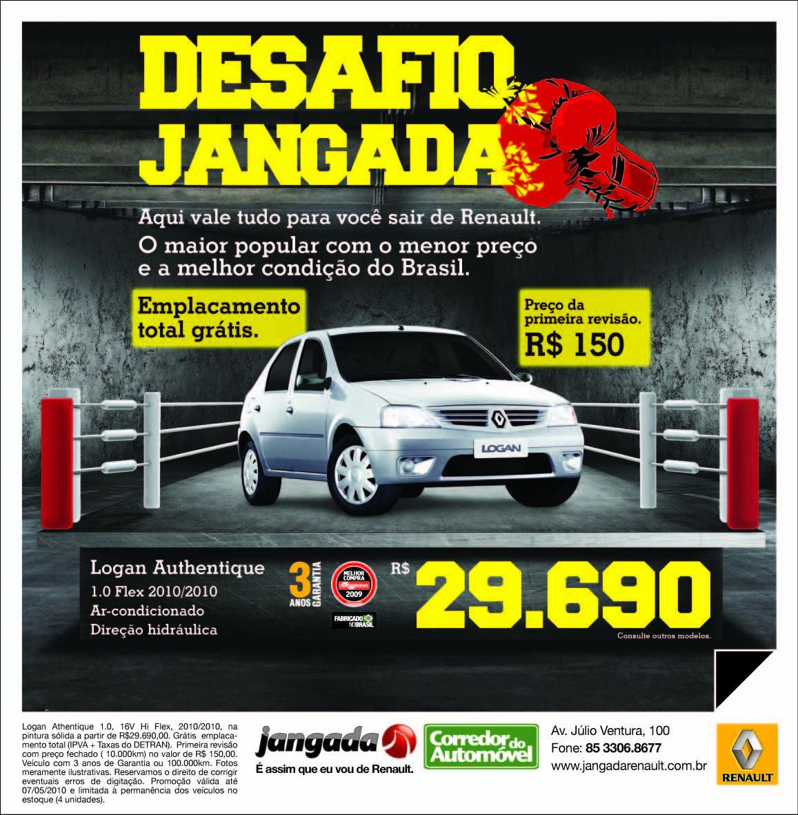 Flex cria para Jangada Renault