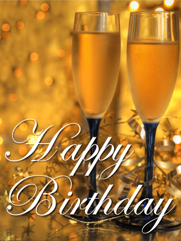Let S Have A Toast Happy Birthday Card Cheers Salud Prost