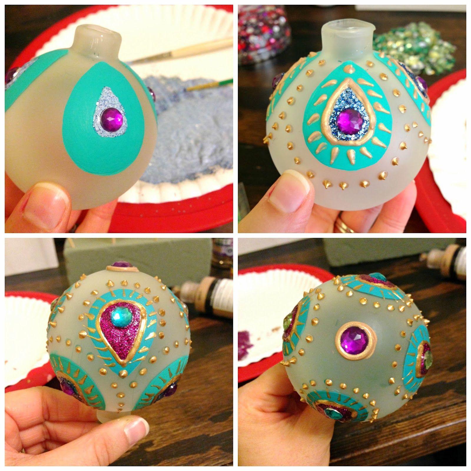 Diy Peacock Ornaments Peacock Ornaments Peacock Christmas
