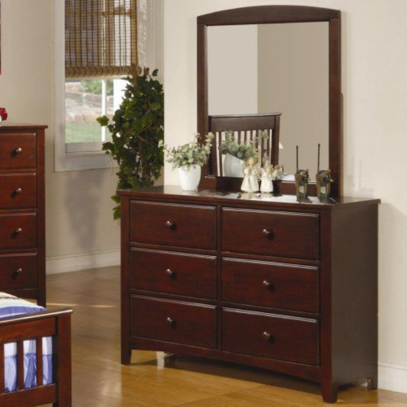 Coaster Furniture Parker Collection 6 Drawer Youth Dresser With Optional  Mirror   COA3141