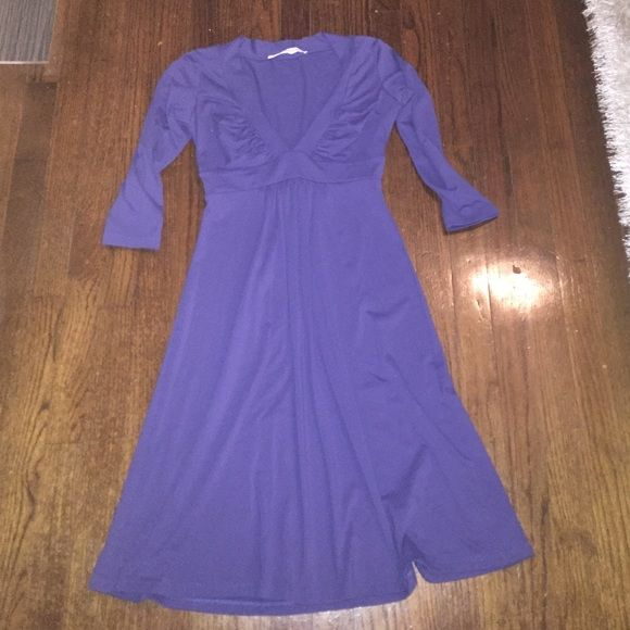 Blue dress Three Quarter Length Sleeved Dress Susana Monaco Dresses