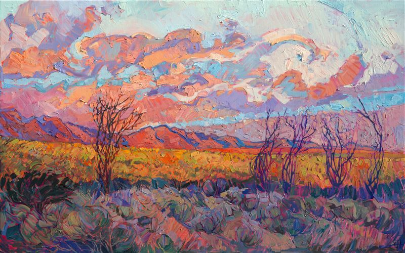 California Desert Original Oil Painting For Sale By Impressionist
