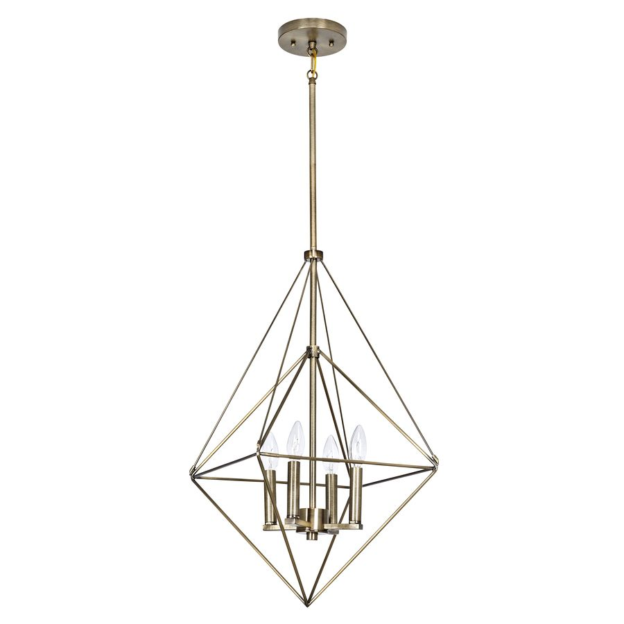 different bulbs maybe allen roth palmsley soft gold art deco single geometric pendant