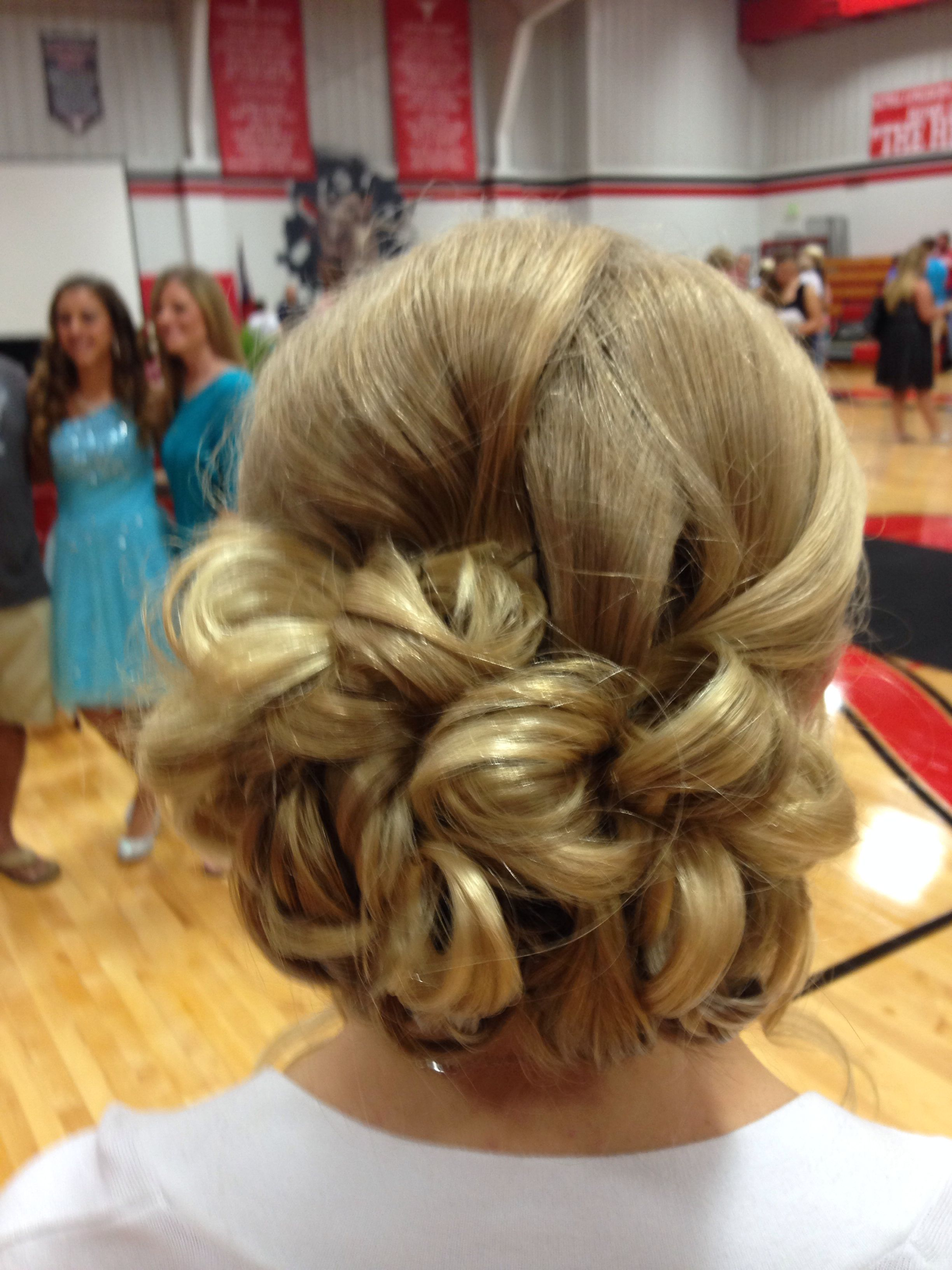 updo for my 8th grade graduation done by cherie hudson- the