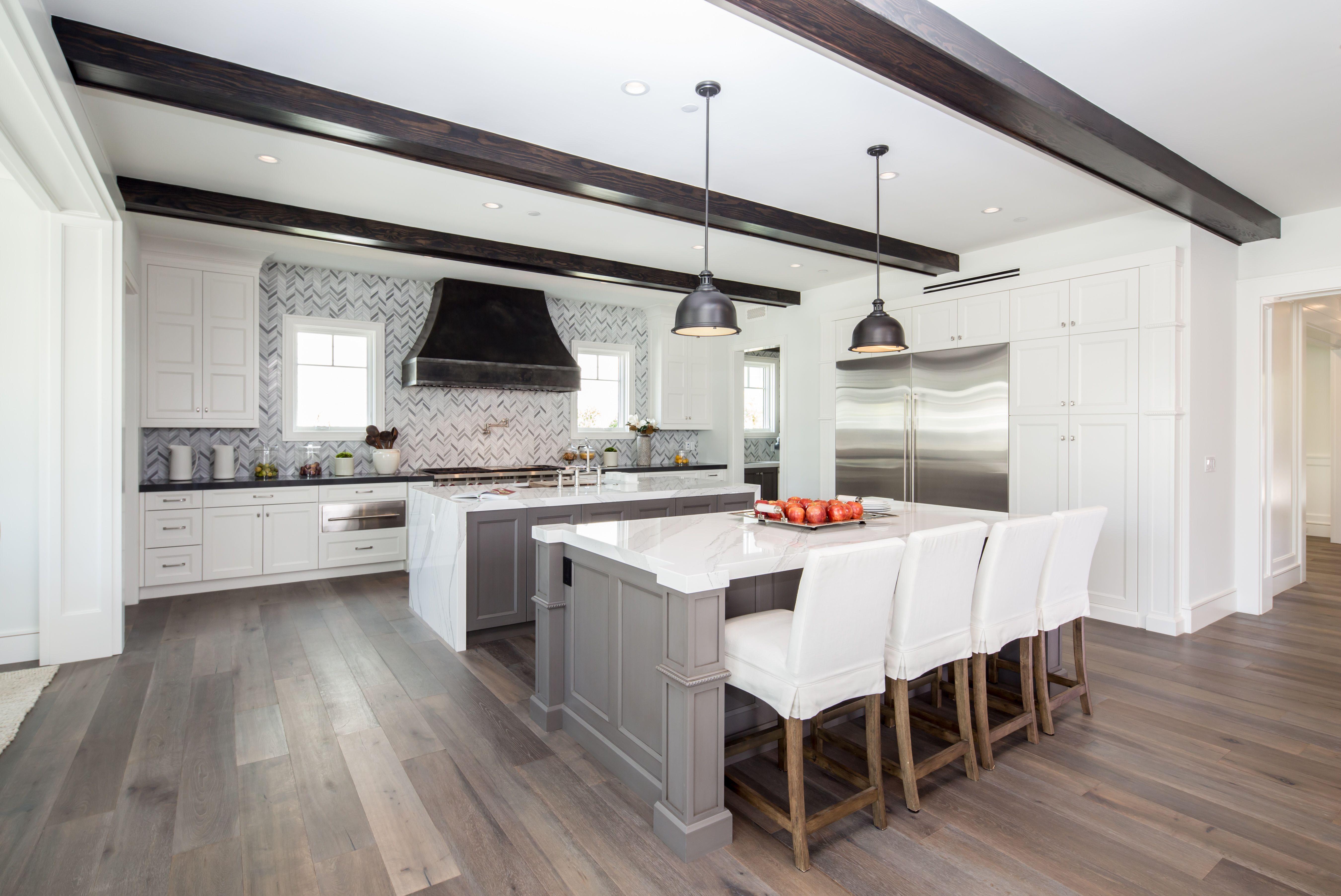 Custom Kitchen Double Island Wood Mode Cambria Quartz Custom Kitchen Design Remodel Bath Design