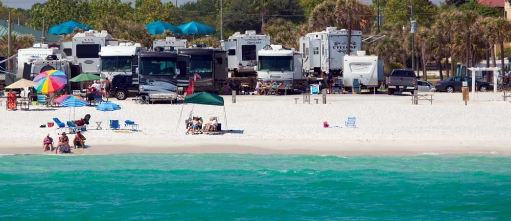 Camp Gulf Campground Beachfront Rv Sites Destin Fl Rv Parks And Campgrounds Rv Parks In Florida Camping Destinations