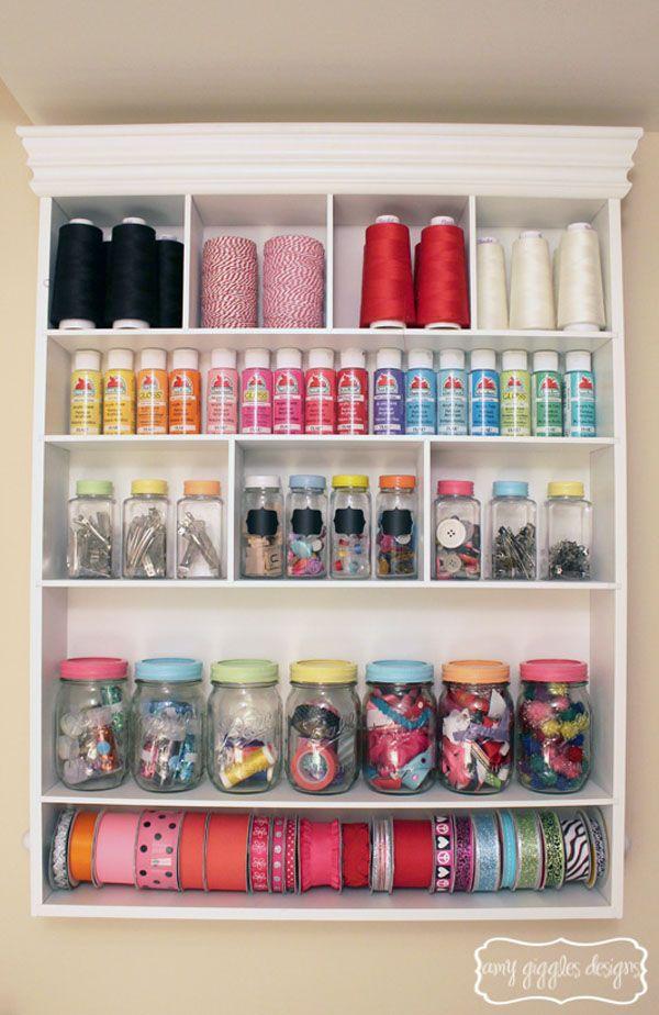 small craft room tour - amy giggles designs   jars, mason jars and