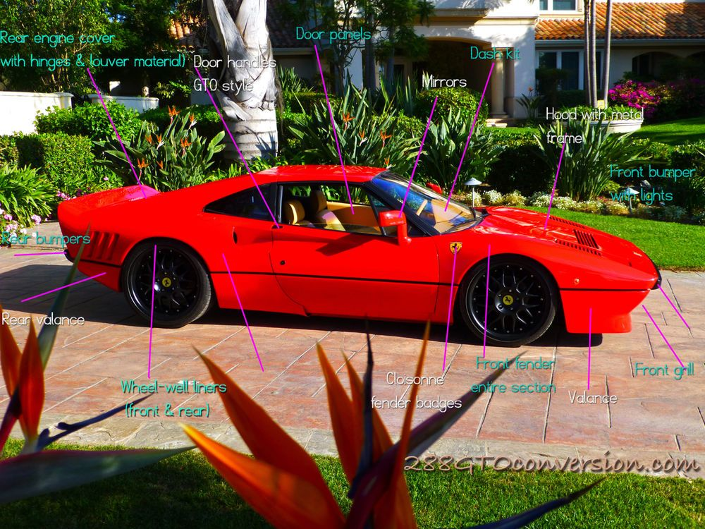 Ferrari 288gto Conversion Fits 308 Or 328 Kit Parts Transform Your Ferrari