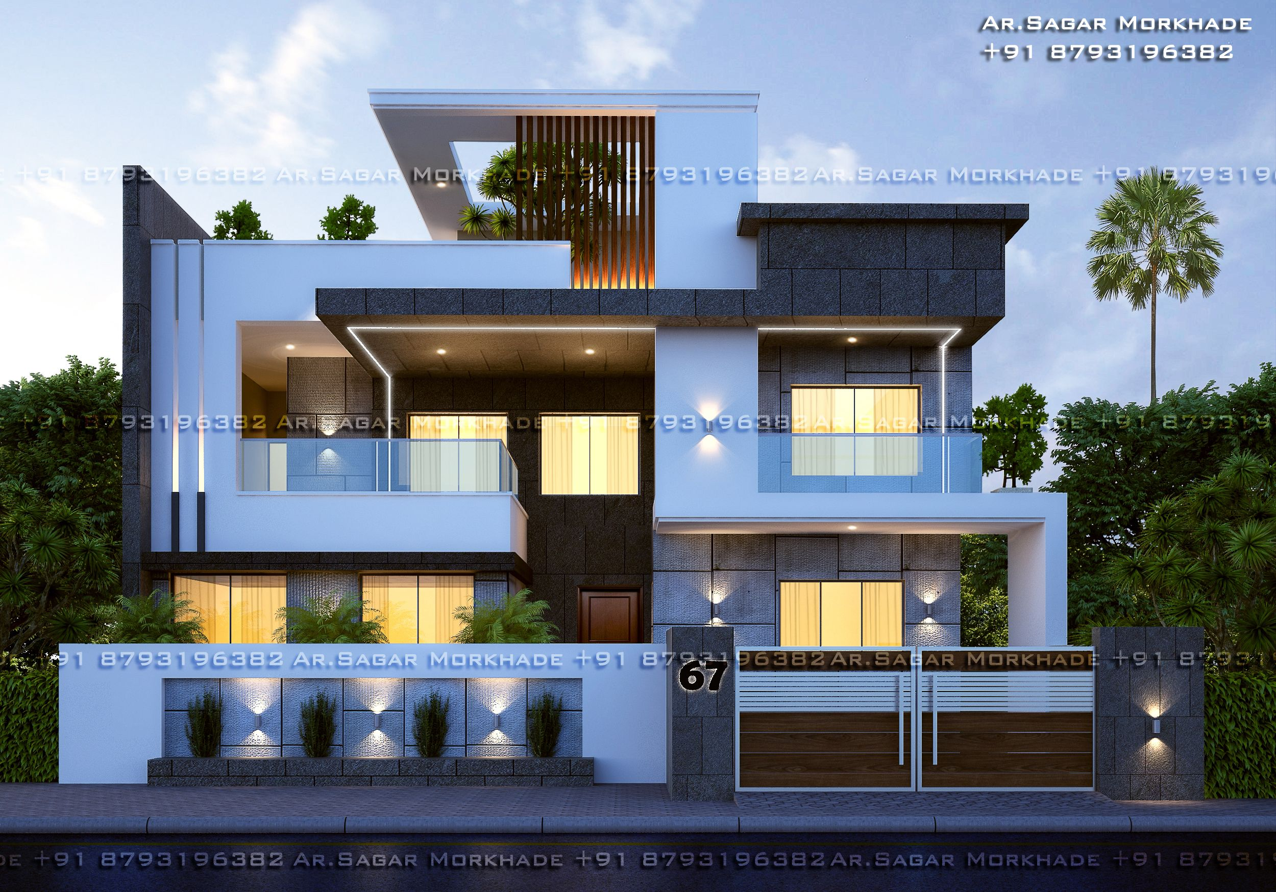 Contemporary Modern Residential House Bungalow Modern Architecture Exterior In 2020 3 Storey House Design Small House Elevation Design Small House Design Exterior