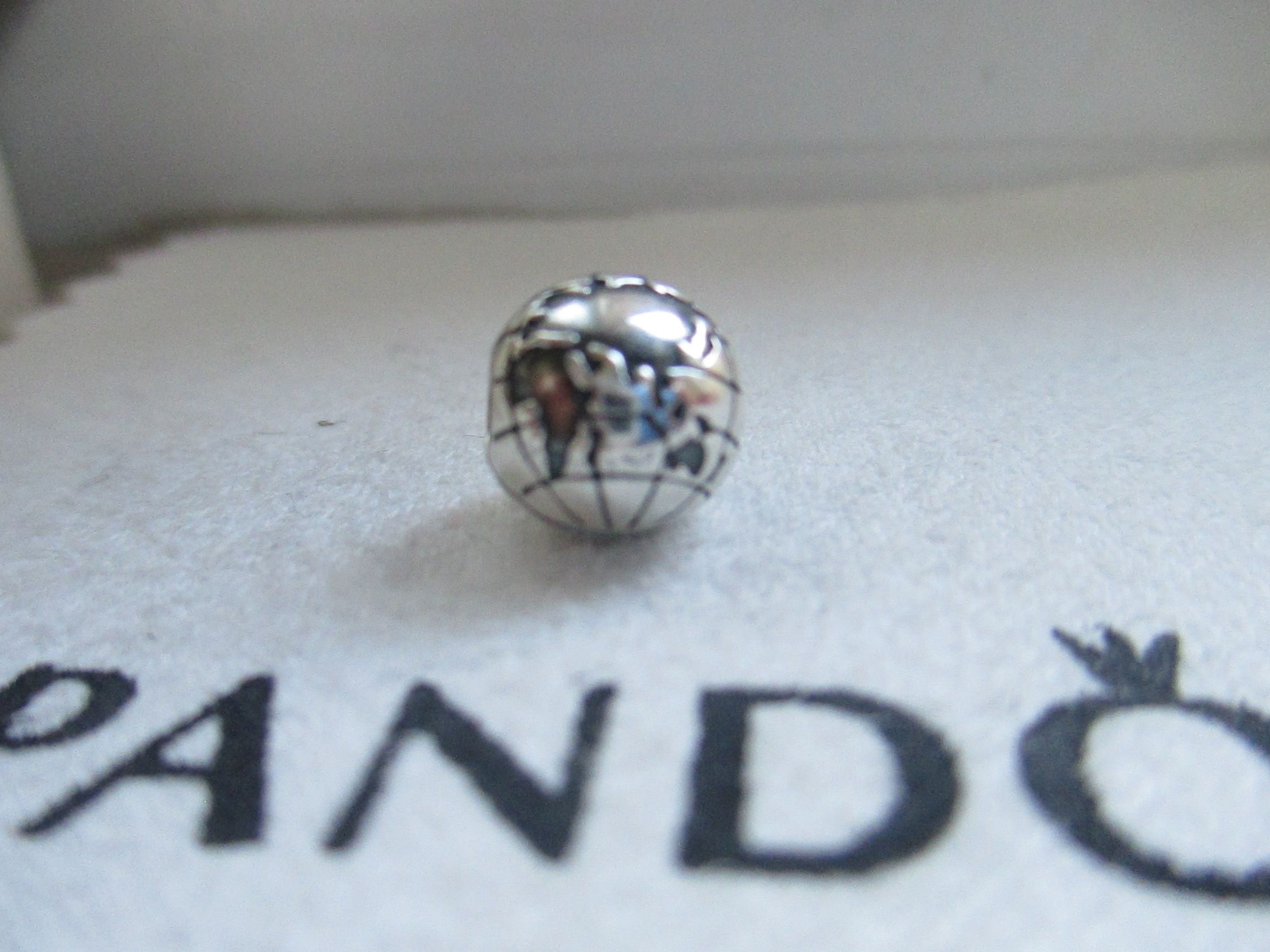 6fb0ed3c8 ... czech authentic new pandora silver the world is yours globe clip charm  791182. get the ...