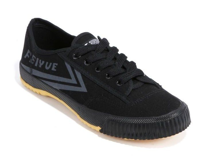 Shaolin Monk Touring Kung Fu Shoes by Feiyue - Black and Silver