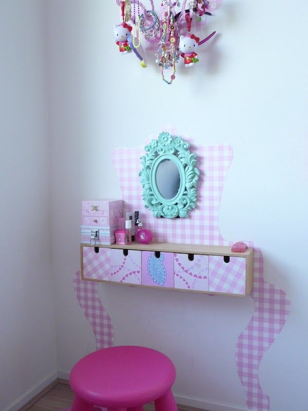 Muebles infantiles: ¡cómo hacer un tocador para jugar | Pinterest ...