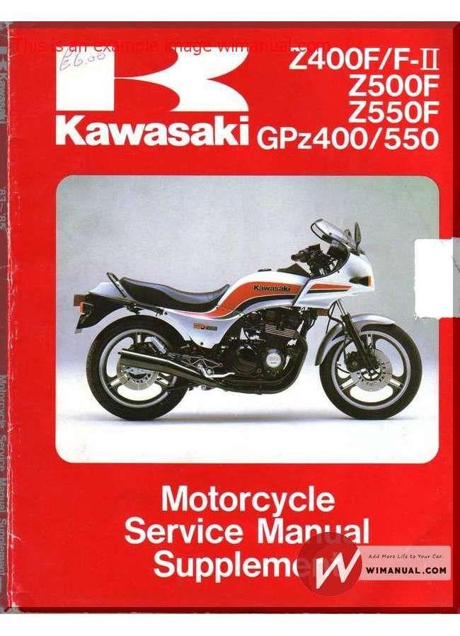 kawasaki gpz 400 550 z 400 f fii z 500 550 f 83 a 85 pdf download rh pinterest com Kawasaki GPZ 1100 kawasaki gpz 550 repair manual
