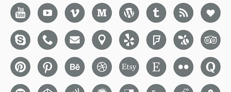 The Top 40 Free Social Media Icon Sets Social icons