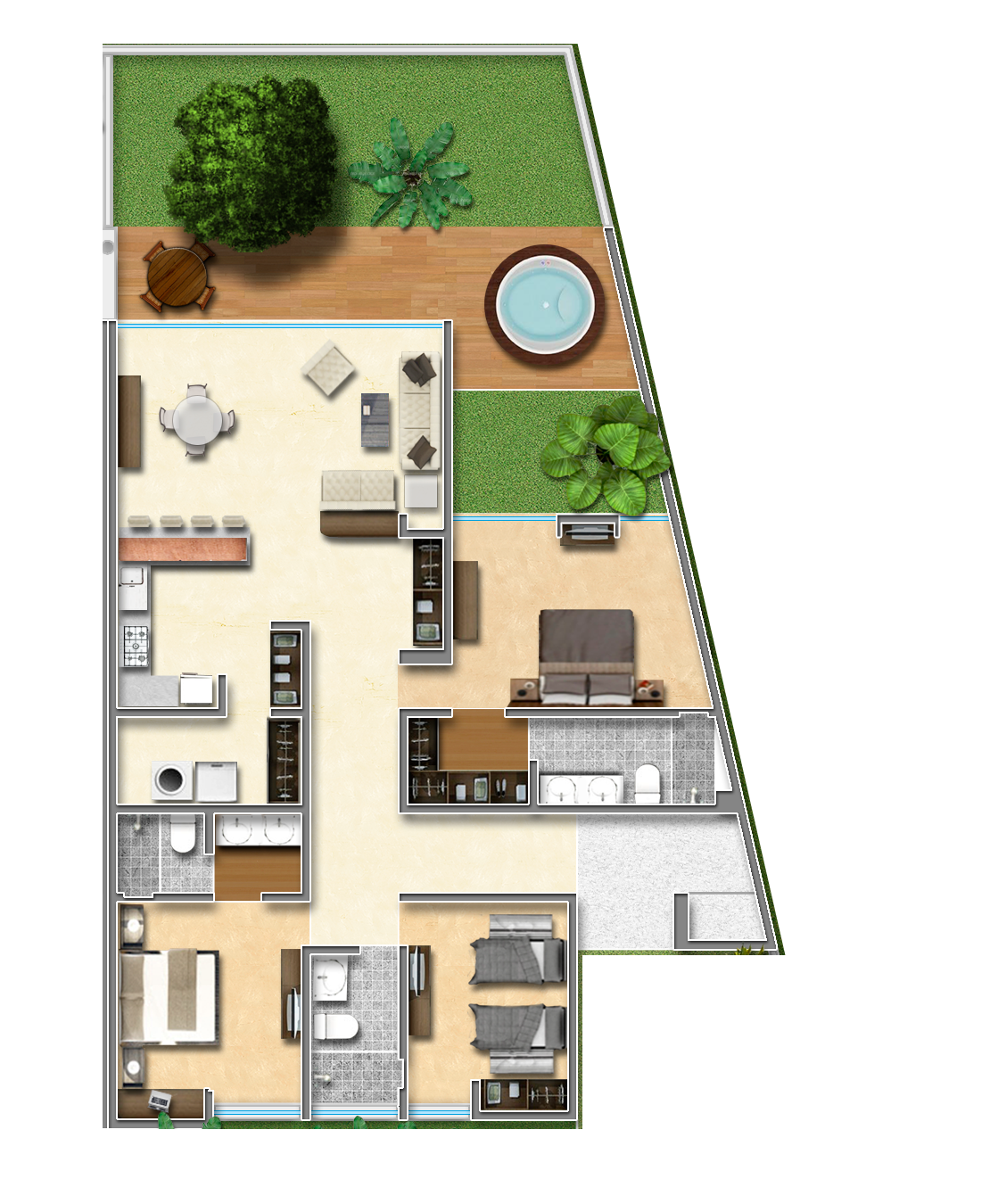 Bamb villas es un exclusivo desarrollo de 9 casas for Comedor completo a la meta