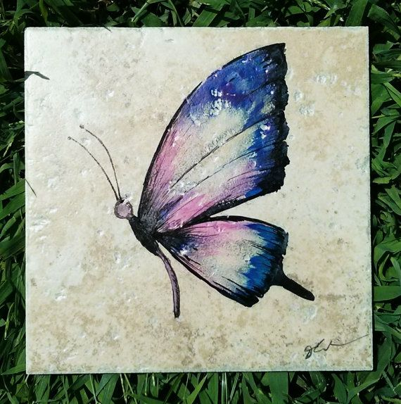 Butterfly original art on 6 1/2 x 6 1/2 by ScribbleSketches, $14.00