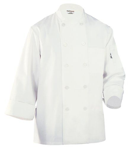 Chef Works Mens Le Mans Chef Coat